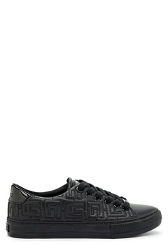 Guess Golden Lady Leather Sneaker Black Bubbleroom.se