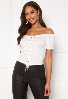 Guess Marietta Top TWHT True White A000 Bubbleroom.se