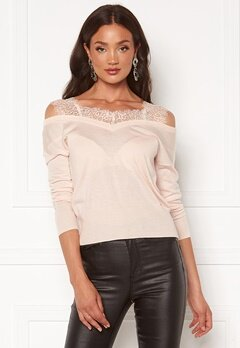Guess Oriella V-Neck Sweater G6Z0 Pink Powder Bubbleroom.se