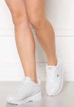 Guess Samsin3 Leather Sneakers White Bubbleroom.se