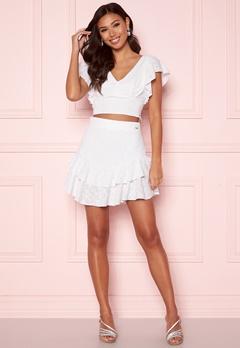 Guess Tatiana Skirt TWHT True White A000 Bubbleroom.se