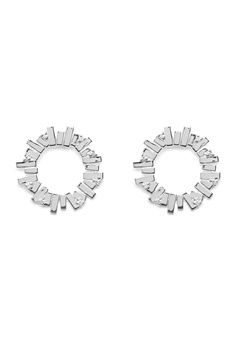 Gynning Jewelry Bricks Explosion Big Earring Silver Bubbleroom.se