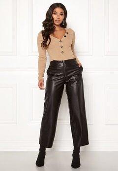 ONLY Hannah Wide Fit PU Pants Black Bubbleroom.se