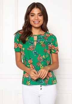 Happy Holly Addy top Green / Patterned Bubbleroom.se