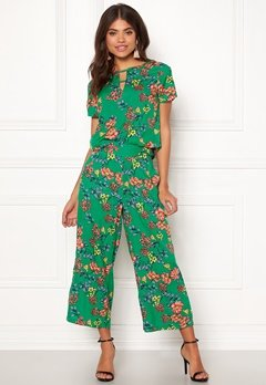 Happy Holly Addy wide pants Green / Patterned Bubbleroom.se