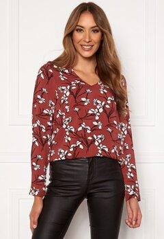 Happy Holly Adele blouse Cinnamon / Patterned Bubbleroom.se