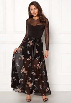 Happy Holly Alaina maxi skirt Black / Patterned Bubbleroom.se