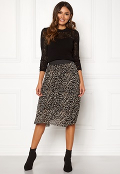 Happy Holly Alaina midi skirt Leopard Bubbleroom.se