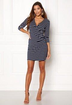 Happy Holly Alena dress Navy / Striped Bubbleroom.se