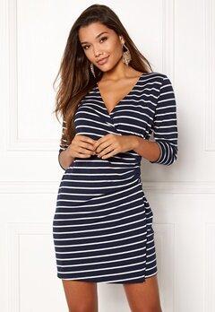 Happy Holly Alena dress Navy / Striped Bubbleroom.no