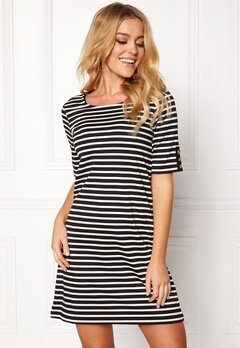 Happy Holly Alex dress Black / Offwhite Bubbleroom.se