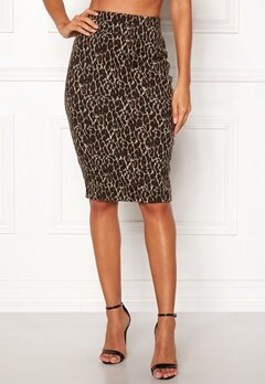 Happy Holly Alexandra skirt Leopard Bubbleroom.se