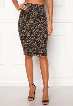 Happy Holly Alexandra skirt Leopard Bubbleroom.se