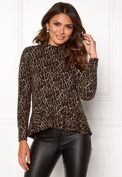 Happy Holly Alexandra top Leopard Bubbleroom.se