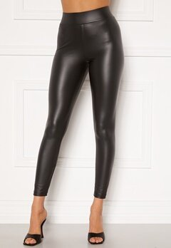 Happy Holly Alicia coated leggings Black Bubbleroom.se