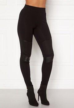 Happy Holly Allison biker leggings Black Bubbleroom.se