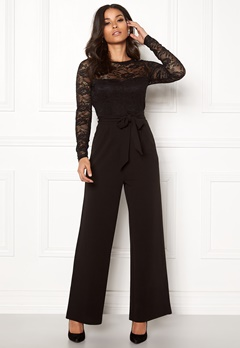 Happy Holly Amalia jumpsuit Black Bubbleroom.se