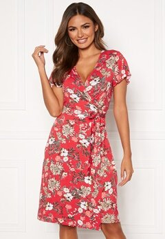 Happy Holly Amanda wrap dress Red / Patterned Bubbleroom.se