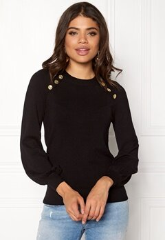 Happy Holly Amelia sweater Black Bubbleroom.se