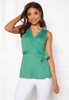 Happy Holly Amelie top Green / Dotted Bubbleroom.se
