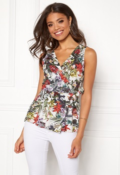 Happy Holly Amelie top White / Patterned Bubbleroom.se