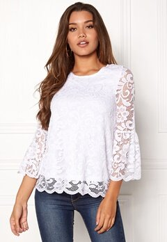 Happy Holly Amie lace top White Bubbleroom.fi