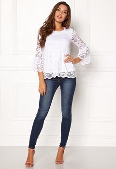 Happy Holly Amie lace top White Bubbleroom.se