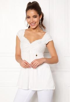 Happy Holly Amina top Offwhite Bubbleroom.se