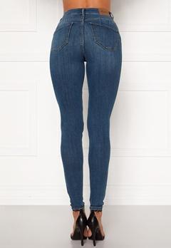 Happy Holly Amy push up jeans Medium denim Bubbleroom.se