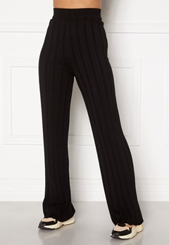 Happy Holly Anabelle Knitted pants Black bubbleroom.se