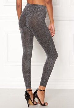 Happy Holly Andrea lurex leggings Black / Silver Bubbleroom.eu