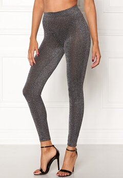 Happy Holly Andrea lurex leggings Black / Silver Bubbleroom.fi