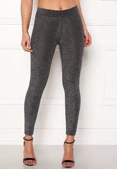 Happy Holly Andrea lurex leggings Black / Silver Bubbleroom.se