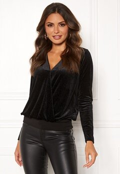 Happy Holly Angela velvet top Black Bubbleroom.se