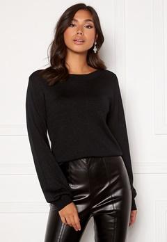 Happy Holly Angelica lurex sweater Black Bubbleroom.se
