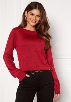 Happy Holly Angelica lurex sweater Dark red Bubbleroom.se