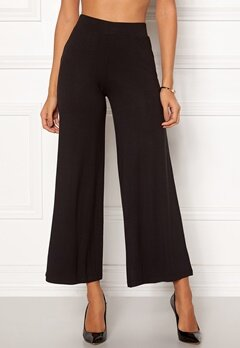 Happy Holly Anne tricot pants Black Bubbleroom.se