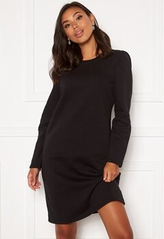 Happy Holly Ashley sweat puff dress  Black Bubbleroom.se
