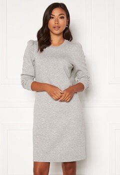 Happy Holly Ashley sweat puff dress  Light grey melange Bubbleroom.se