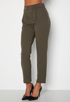 Happy Holly Avery soft suit pants Dark khaki-green bubbleroom.se