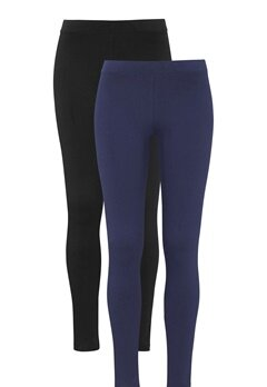 Happy Holly Beata Leggings Navy+Black Bubbleroom.se