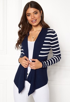 Happy Holly Beatrice cardigan Navy / Striped Bubbleroom.se