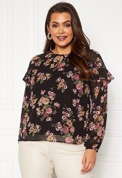 Happy Holly Becky blouse Black / Patterned Bubbleroom.se