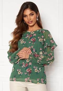 Happy Holly Becky blouse Green / Patterned Bubbleroom.se