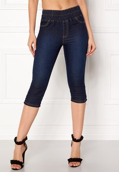 Happy Holly Becky capri jeggings Dark denim Bubbleroom.fi