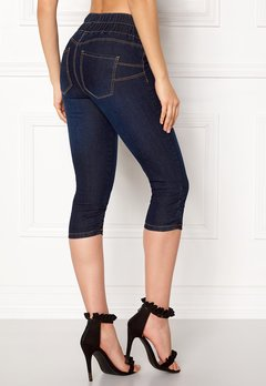 Happy Holly Becky capri jeggings Dark denim Bubbleroom.se