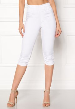 Happy Holly Becky capri jeggings White Bubbleroom.fi