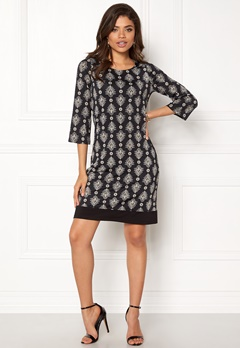 Happy Holly Belicia dress Black / Offwhite Bubbleroom.se