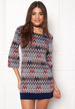 Happy Holly Belicia dress Patterned / Blue Bubbleroom.se