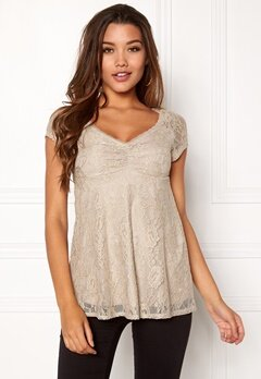 Happy Holly Benita lace top Light mole Bubbleroom.dk